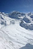 alpin glaciär Arkivfoto