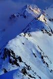 alpin gryning arkivfoton
