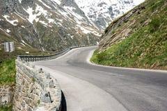 alpin hög väg Royaltyfri Fotografi