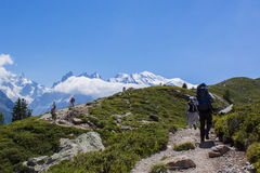 Alpin Hiking Royalty Free Stock Image