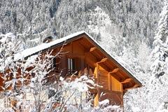 alpin kabin Arkivfoto