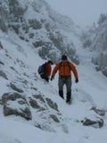 alpin klättring royaltyfria foton