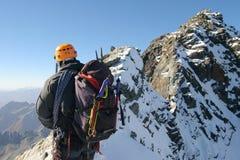 alpin klättring Arkivfoto