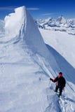 alpin klättring Arkivfoton