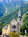 alpin kyrka Royaltyfri Fotografi