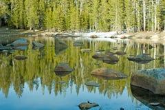 alpin lake Royaltyfri Bild