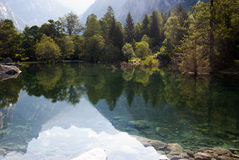 Alpin lake royaltyfri foto