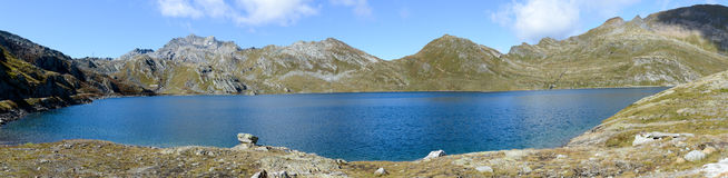 Alpin lake at Maggia valley Stock Photography