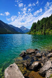 alpin lake tirol Royaltyfri Bild