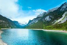 alpin lakesommarsikt arkivbilder