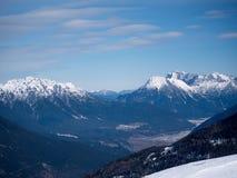 Alpin landskapösterrikare för berg Arkivbilder