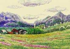 alpin liggande Arkivbilder