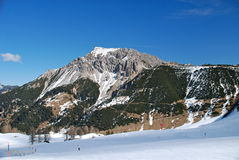 alpin liggande liechtenstein Arkivfoton