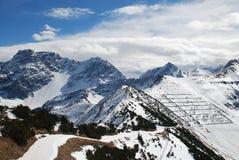 alpin liggande liechtenstein Arkivfoto
