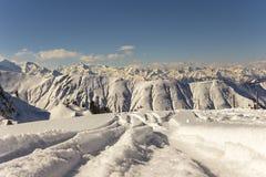 alpin liggandevinter Fotografering för Bildbyråer