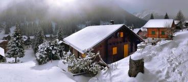 alpin liggandevinter Royaltyfri Bild