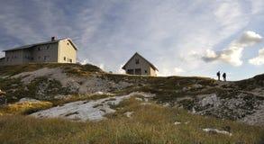 alpin loge Arkivfoton