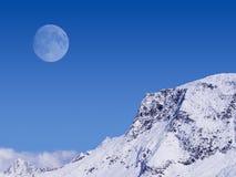 alpin moon Arkivfoto