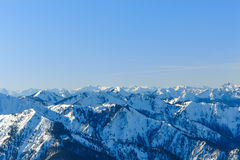 Alpin panorama Arkivbilder
