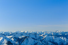 Alpin panorama II Arkivfoto