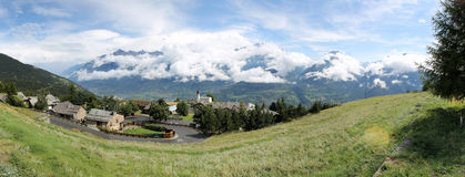 Alpin panorama from Saint-Nicolas (ITALY) Stock Photography
