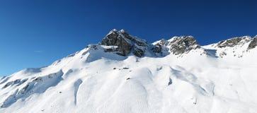 alpin panorama- sikt arkivfoto