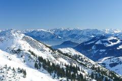 Alpin panoramadropp Fotografering för Bildbyråer