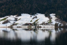 alpin plats switzerland Arkivbilder