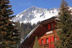 alpin restaurang Arkivfoton