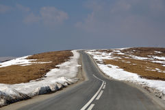 Alpin road to sky Stock Photography