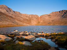 alpin rockies sommar Arkivfoton