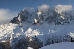 alpin semesterort Royaltyfri Fotografi