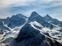 alpin sikt Arkivbild
