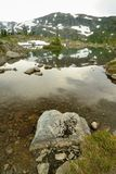 Alpin sjö Royaltyfria Bilder