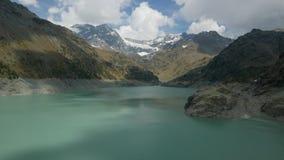 Alpin is- sjötimelapse arkivfilmer