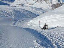 Alpin Sledding Royaltyfri Bild