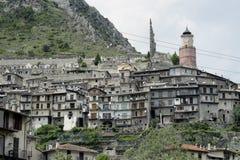 Alpin stad Arkivfoton