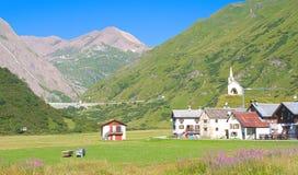 Alpin stad Arkivbilder