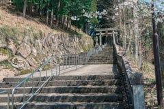 Alpin stad, Japan arkivfoton