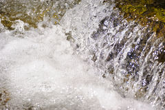 Alpin stream with water cascade Stock Image