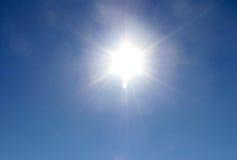 alpin sun Arkivfoton