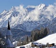 alpin town Royaltyfri Bild