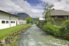 alpin town Royaltyfria Bilder