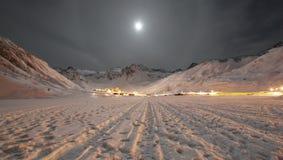 alpin town Fotografering för Bildbyråer
