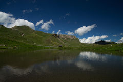 Alpin väg för Grossglockner kick, Österrike arkivbilder