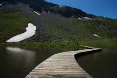 Alpin väg för Grossglockner kick, Österrike arkivbild