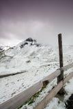 Alpin väg för Grossglockner kick, Österrike royaltyfri foto