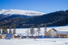 Alpin vinterdag Royaltyfri Foto