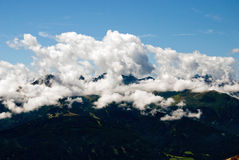 alpina berg Arkivbild