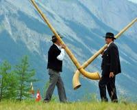 alpina horns Royaltyfria Foton